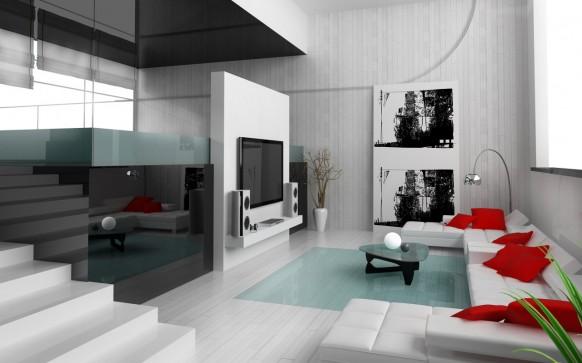Nếu căn phòng có một bức tường dài thì rất thích hợp để một chiếc ghế sofa. 1